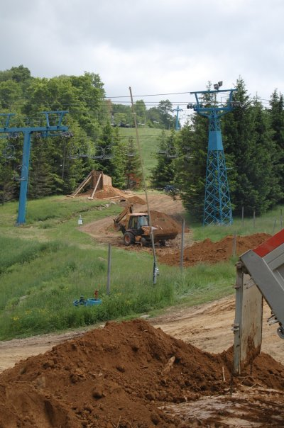 More dirt for the jumps. photo courtesy of Brian Southard.