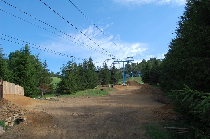 uphill shot of the Higher Ground park