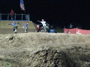 Heat one of the women, the photo is probably blurry because they were riding so fast. Photo by: Altitude Sickness
