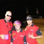 Phil Shedder Altitude Sickness Team Manager/Co-Owner, rider Mellisa Ponce De Leon and Devin Garland