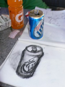 What else do you do on an 8 hour ride in an RV besides draw and drink?