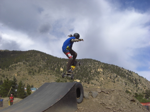 It's always nice to see new blood in mountainboarding, especially when it's a lady, Amanda Poindexter