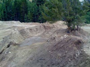 The first berm into the waterfall