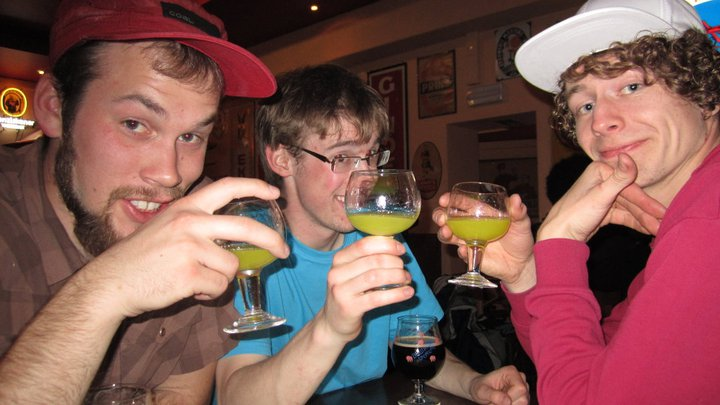 Evan Carlson, Martyn James, & Nicky Geeres at Little Delrium